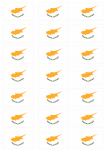 Cyprus Flag Stickers - 21 per sheet
